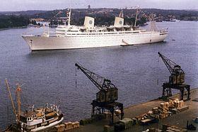 MS Gripsholm i Stockholm 1958